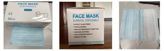 FDA Approved 3 Layer Disposable Surgical Mask